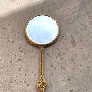 Antique Make Up Mirror Art VTG Jewelry Vintage ART